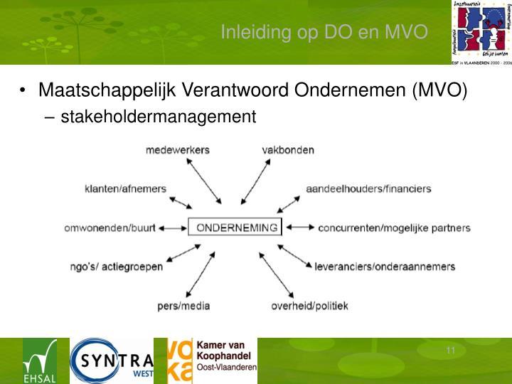 Inleiding op DO en MVO