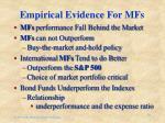 empirical evidence for mfs