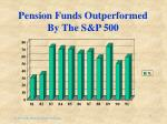 pension funds outperformed by the s p 500