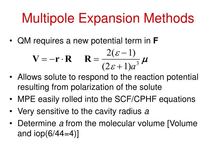 Multipole Expansion Methods