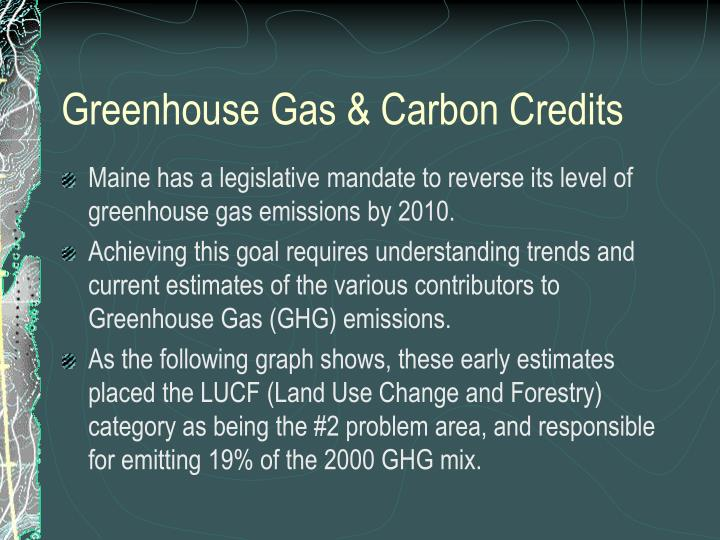 Greenhouse Gas & Carbon Credits