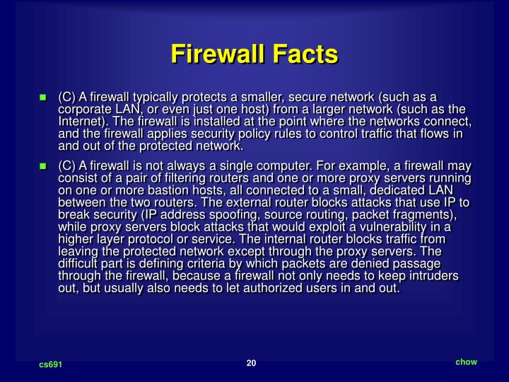 Firewall Facts