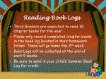 reading book logs