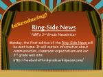 ring side news nbe s 3 rd grade newsletter