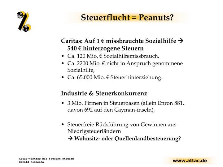 Steuerflucht = Peanuts?