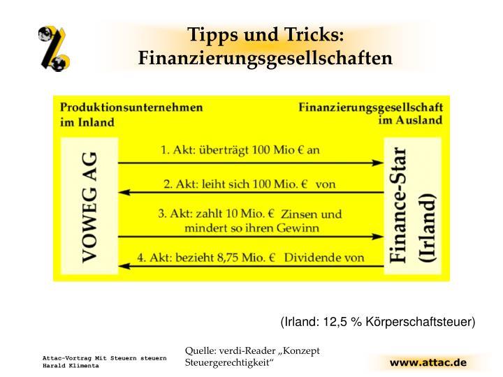 Tipps und Tricks: Finanzierungsgesellschaften