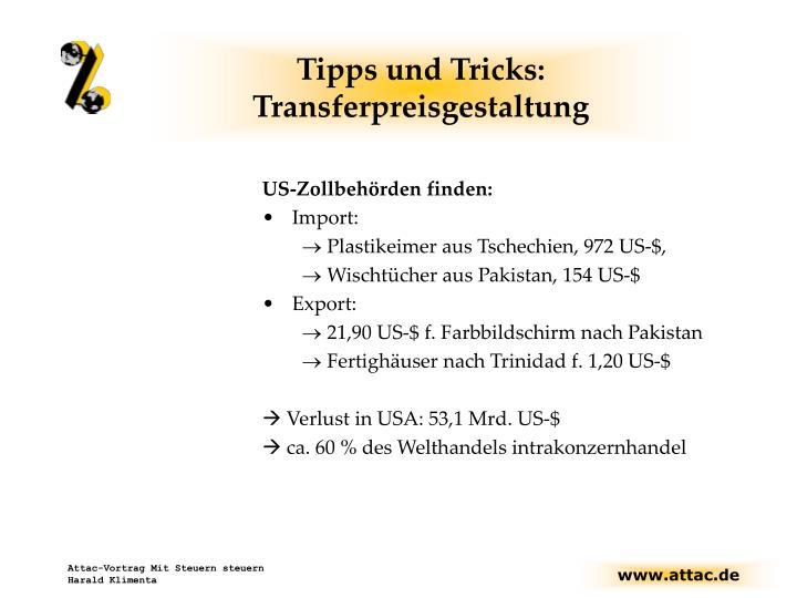 Tipps und Tricks: Transferpreisgestaltung