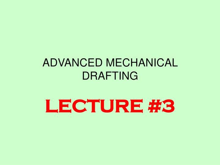 advanced mechanical drafting n.