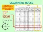 clearance holes1