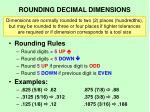 rounding decimal dimensions