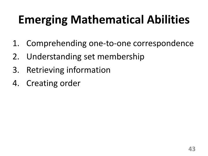 Emerging Mathematical Abilities