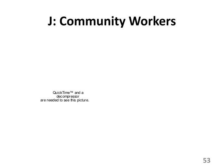 J: Community Workers