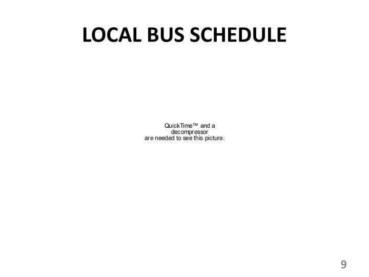 LOCAL BUS SCHEDULE
