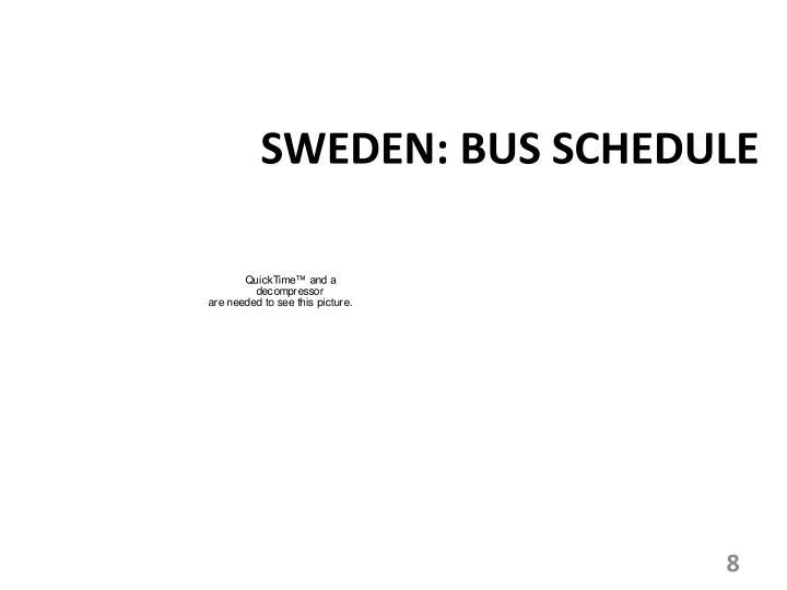SWEDEN: BUS SCHEDULE