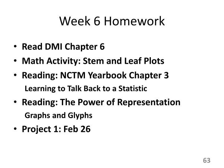 Week 6 Homework