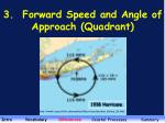 3 forward speed and angle of approach quadrant