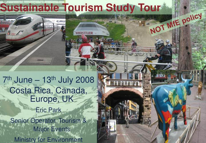 Sustainable Tourism Study Tour