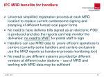 ipc mrd benefits for handlers
