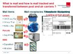 what is mail and how is mail tracked and transferred between post and air carriers