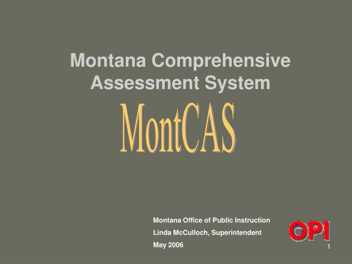 montana comprehensive assessment system n.