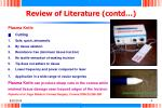 review of literature contd