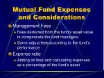 mutual fund expenses and considerations2