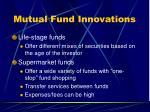 mutual fund innovations