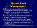 mutual fund management