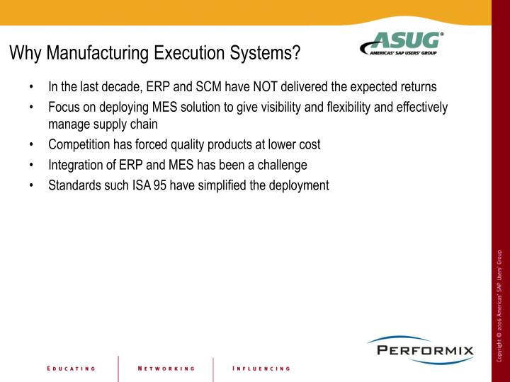 Why Manufacturing Execution Systems?