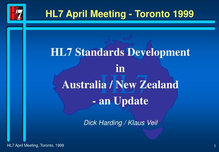 hl7 april meeting toronto 1999