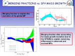 merging fractions vs sfh mass growth