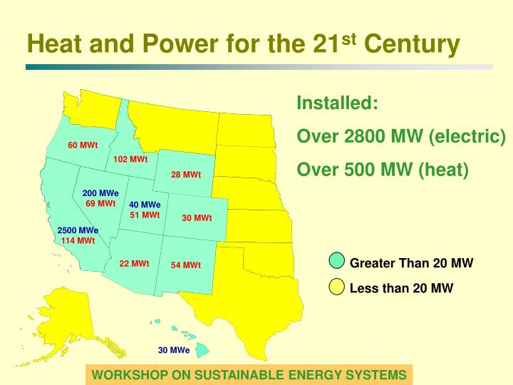 Greater Than 20 MW