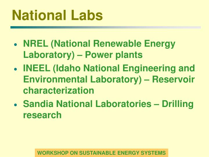 National Labs