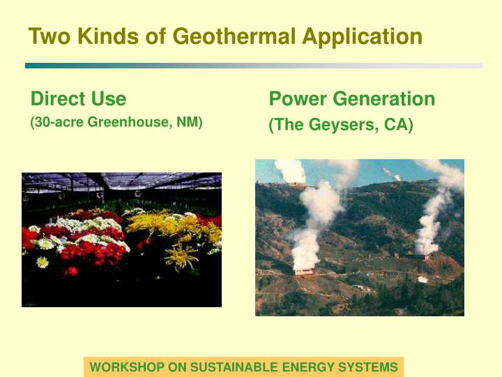 Two kinds of geothermal application