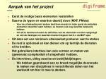 aanpak van het project