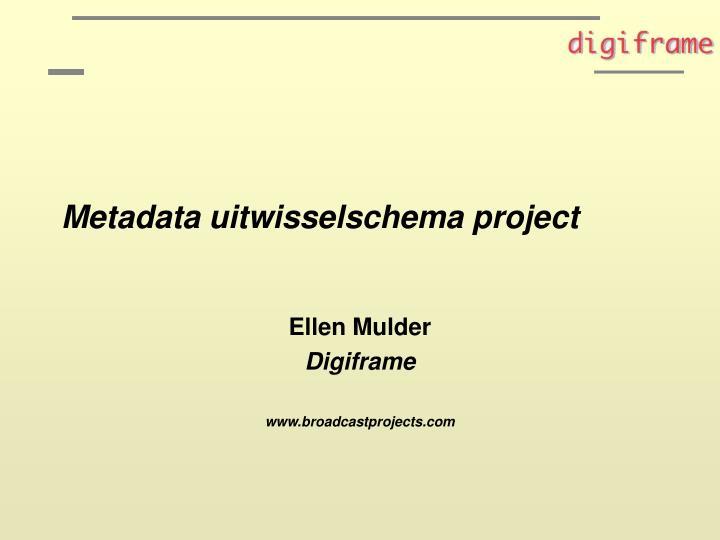 metadata uitwisselschema project n.
