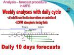 analysis forecast procedure in mfs