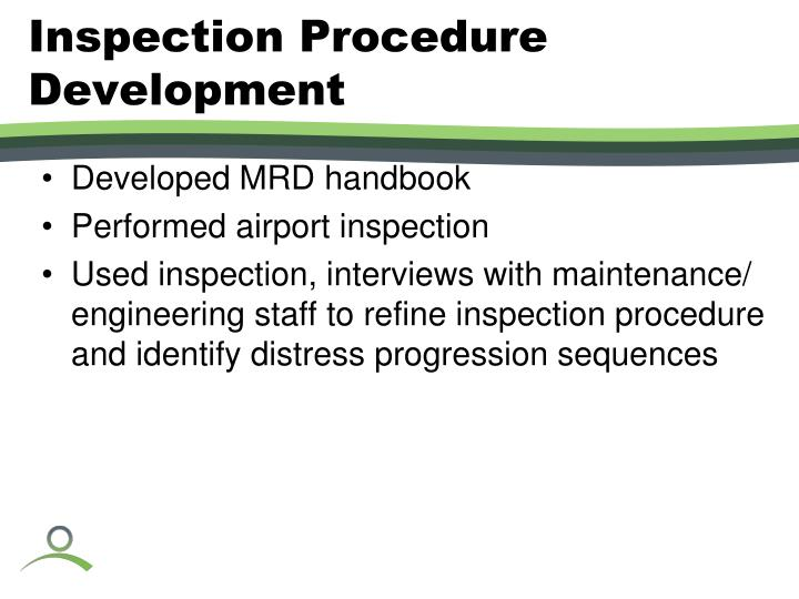 Inspection Procedure Development