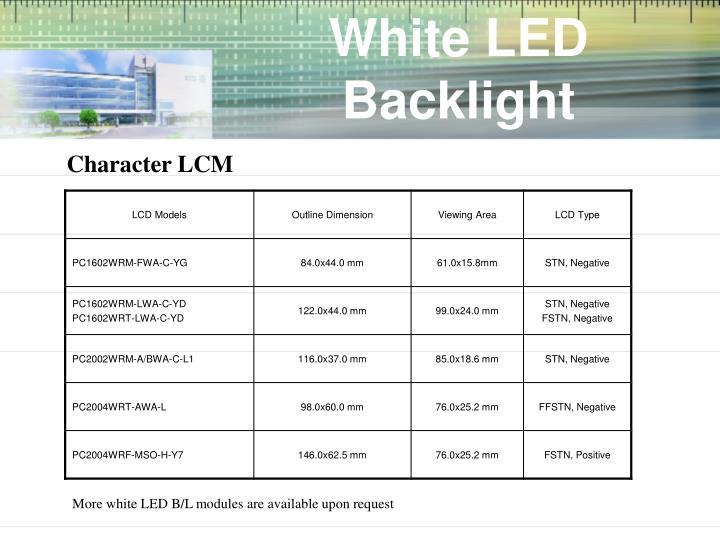 White LED Backlight