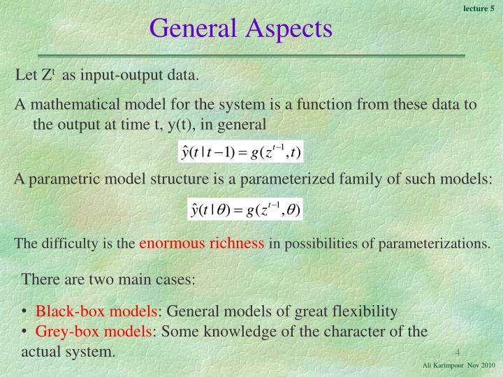 General Aspects