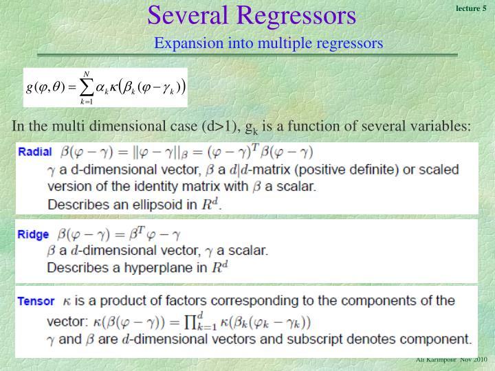 Several Regressors