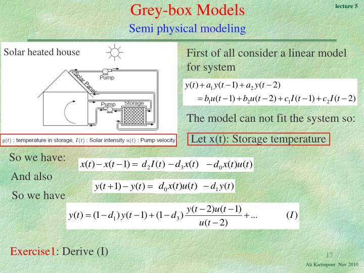 Grey-box Models