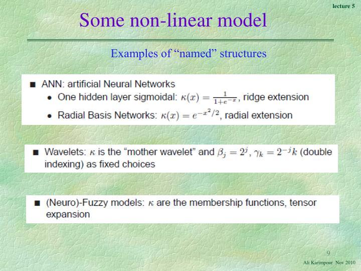 Some non-linear model