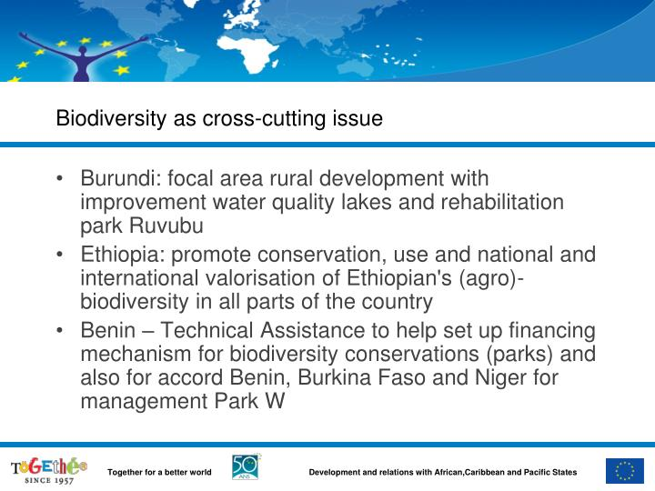 Biodiversity as cross-cutting issue