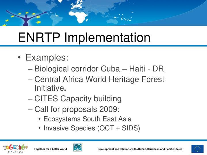 ENRTP Implementation