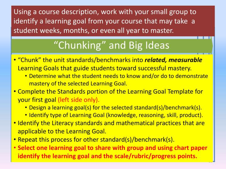 Course Requirements/Standards