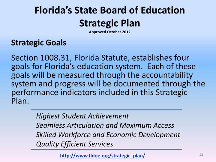 Florida's State Board of Education