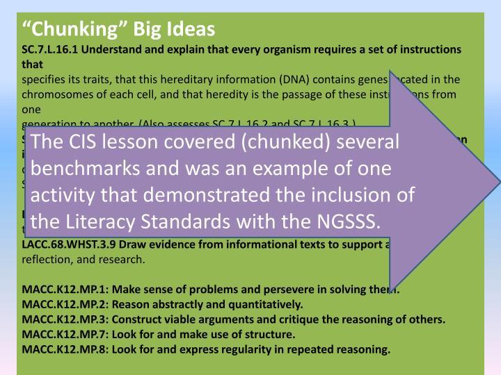 """Chunking"" Big Ideas"
