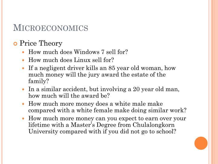 microeconomics n.