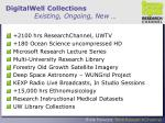 digitalwell collections existing ongoing new
